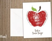Fruits of the Spirit Apple Blank Note Cards (8 pk.) - 4.25x5.5