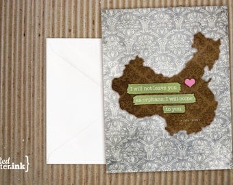 China Adoption Blank Note Cards (8 pk.) - 4.25x5.5