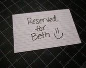 Reserved listing for - Beth