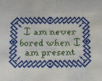Never Bored...  A.D. Wintle Cross Stitch Pattern