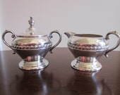 Sheridan silver on copper sugar and creamer set