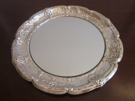 International Silver mirror tray