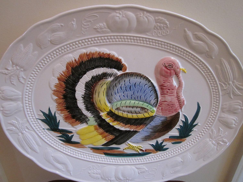 Vintage Turkey Platter Made in Japan by virginiahaskins on Etsy