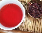 Organic Hibiscus Tea - a healthy and delicious herbal tea. Loose leaf. 2.6 oz