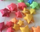 9 feet BABY NURSERY decoration - baby decoration - rainbow stars - rainbow shower - origami garland by Allweneedisorigami on Etsy