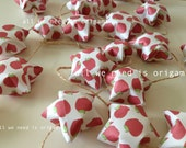 sale christmas GARLAND valentine post - red apple - Happy Valentine day - lovely origami stars by Allweneedisorigami on Etsy