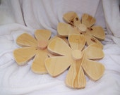 Unfinished wood Flowers