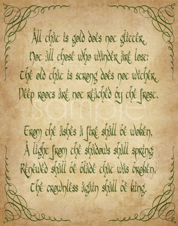 Riddle Of The Ring Aragorn