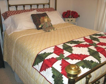 Poinsettia Bed Warmer/Table Runner Pattern