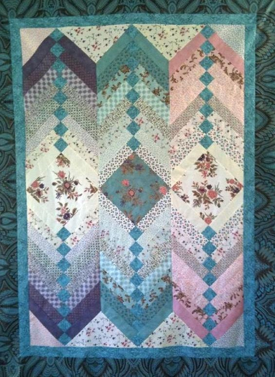 Jelly Roll French Braid Quilt Pattern