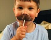 Chocolate Mustache Lollipop Favor (6)
