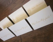 Custom Calligraphy Listing for marissaatchley - Place Cards - Rose in Black