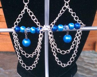 Chain drape dangle Earrings
