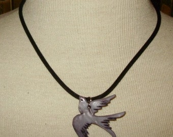 Purple Shell Dove Necklace - Price Dropped