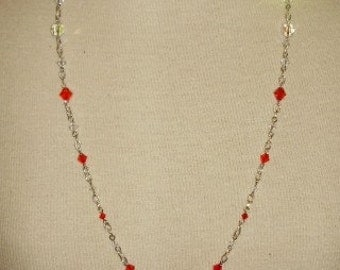 Valentines Day with Vintage and New Swarovski Crystal's Necklace