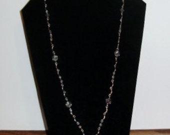 Vintage Aurora borealis Swarovski in a New Angel Necklace Valentine Perfect