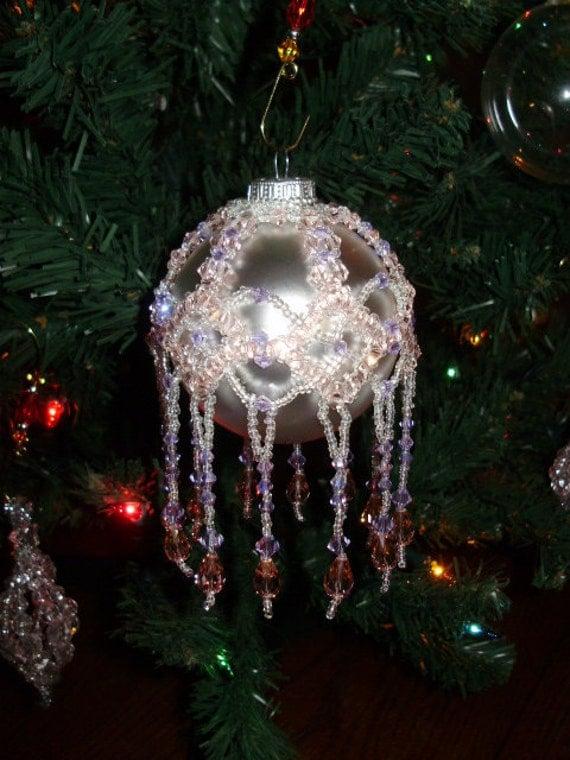 Swarovski crystal christmas ornament custom made to order
