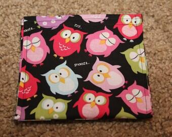 Reusable Snack Bag-Owls