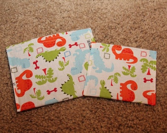Reusable Sandwich and Snack Bag Combo-Dinosaurs