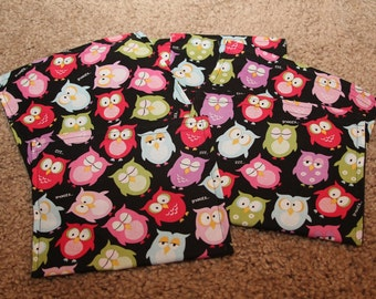 Party Favors-Reusable Sandwich Bags-Owls