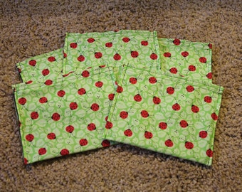 Party Favors-Reusable Sandwich Bags-Ladybugs