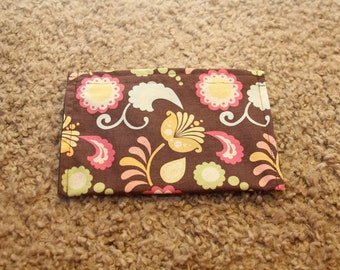 Makeup-Coupon-Envelope System Pouches-Brown Paisley