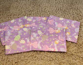 Party Favors-Reusable Sandwich Bags-Purple Fairy