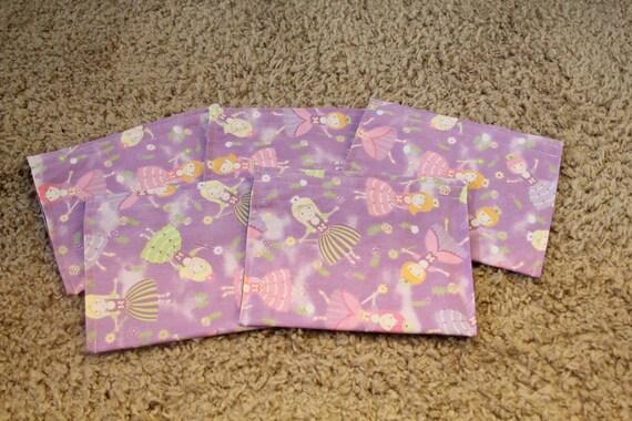 Party Favors-Reusable Sandwich Bags-Purple Fairy