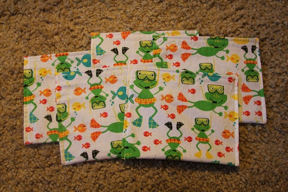 Party Favors-Reusable Sandwich Bags-Froggy Pool Party