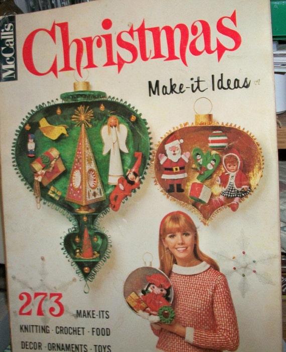 McCalls Christmas Make-it Ideas magazine 1967