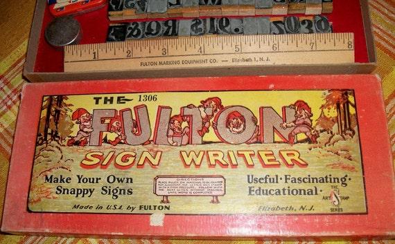 Fulton Sign Writer, vintage toy