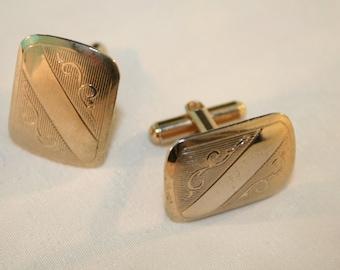 golden western style cufflinks