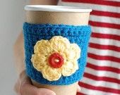 Reusable Coffee cozy, Coffee Cup Sleeve, Knit cup cozy,  by The Cozy Project