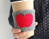 Apple Cup Cozy, Crochet Coffee Sleeve, Reusable Coffee Cup Cozy, Teacher Gift, by The Cozy Project