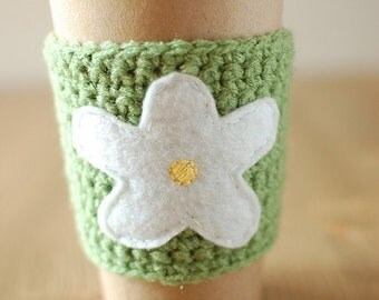 Spring Coffee cup sleeve cozy by The Cozy Project