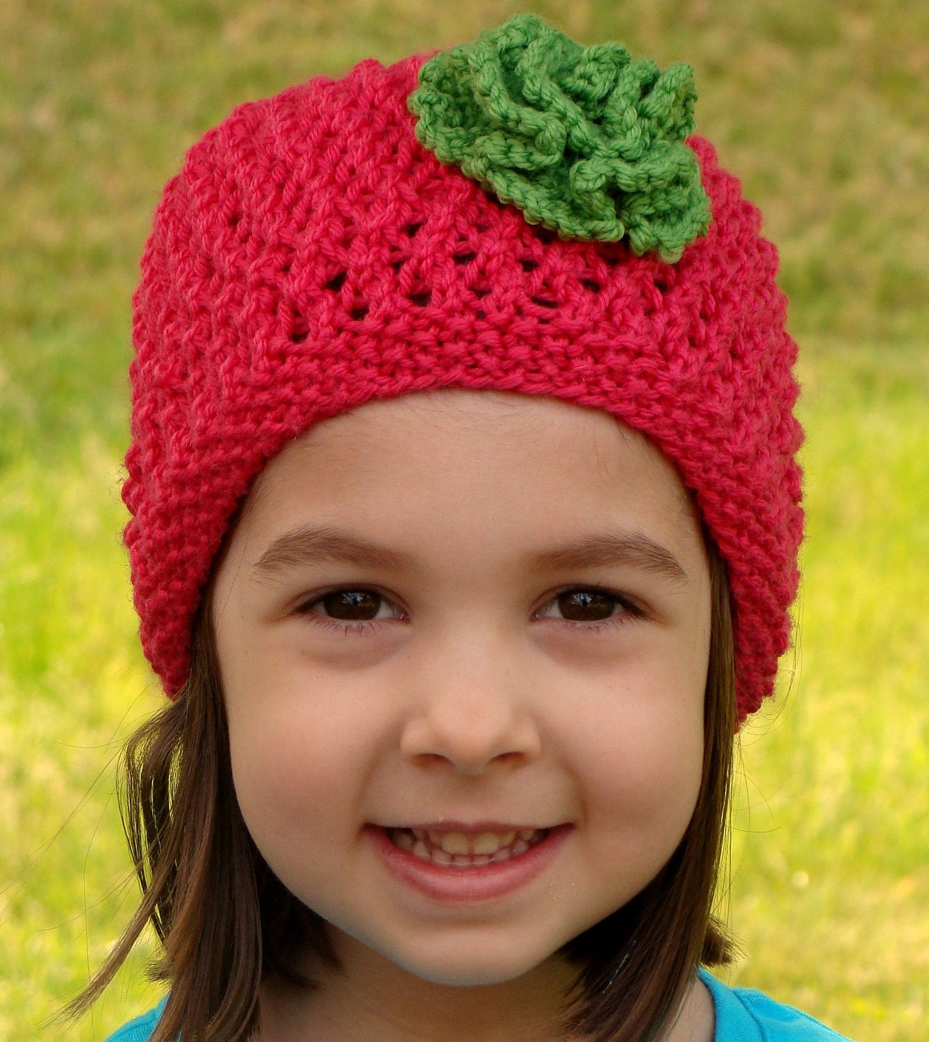 Baby/Toddler Flower Hat Knit Pattern PDF.