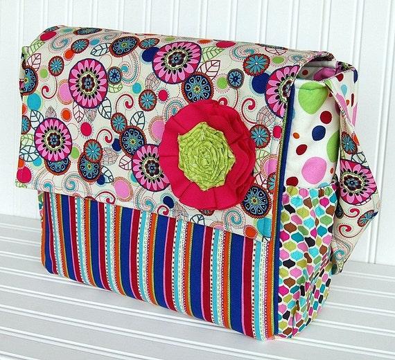 Kaleidoscope - Messenger Style Diaper Bag - IN STOCK