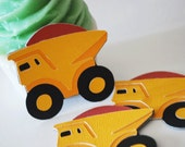 Dumptruck Hang Tags In Your Choice of Color Qty 6 By Your Little Cupcake