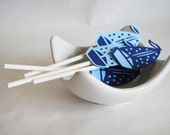 Nautical Boat Cupcake Toppers Set of 12 By Your Little Cupcake.