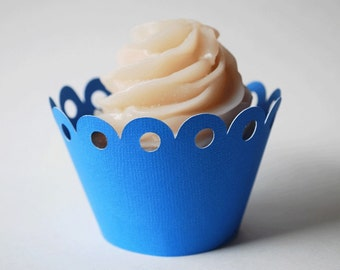 Cupcake Wrappers Simple and Sweet for Your Little Treat In Your Choice of Color Qty 12 By Your Little Cupcake