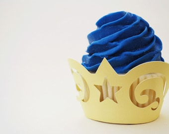Filigree Cupcake Wrappers In Your Choice of Color Qty 12 By Your Little Cupcake