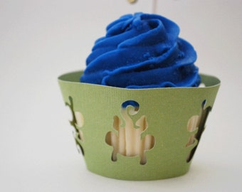 Monkey Cupcake Wrappers In Your Choice of Color Qty 12 By Your Little Cupcake