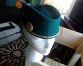 Space Cadet-Vintage Wool Hat with veil-RESERVED FOR CYNTHIA-