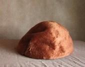 Rust Orange Soft Fur Hat