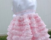 Lace dress with ruffle Light Pink Dress, flower girl dress for the modern bride