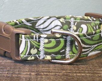 Green Vortex Funky Dog Collar