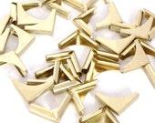 100 Brass Metal Book Corners - Bookbinding - Scrapbooking - Photo Album - Diary - Journal