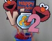 Elmo Centerpiece - Pick Your Colors - Boy Theme
