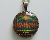 "Repurposed Vintage Advertising Art Pendant Necklace ""Nankin"""