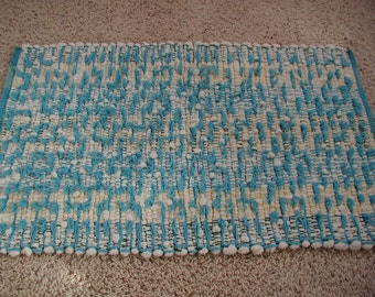 Handwoven Cotton Shaggy Looper Rug (1127A)